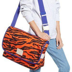 Herschel fuzzy tiger print grade messenger bag